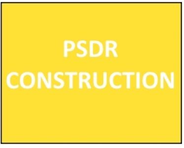Calendrier de la construction des projets