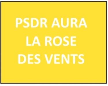 La rose des vents des projets PSDR en Auvergne-Rhône-Alpes