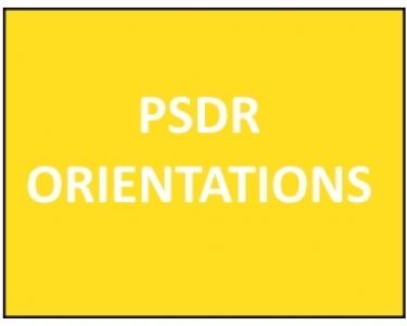 Rappel des orientations PSDR4